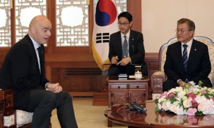 FIFA President meets President of Korea Republic Moon Jae-in