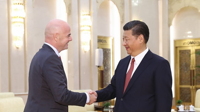 FIFA President Gianni Infantino meets President of People's Republic of China Xi Jinping