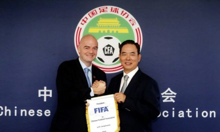 FIFA President visits China and Chinese Football Association