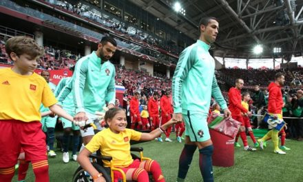 Disabled youngster enjoys moment to treasure with Ronaldo